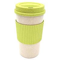 Стакан для напитков из пшеничной соломы Reef 350 мл Зеленый