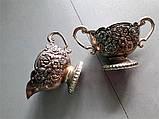 Посеребренные соусницы с внутренним керамическим покрытием, винтаж, Италия, фото 3