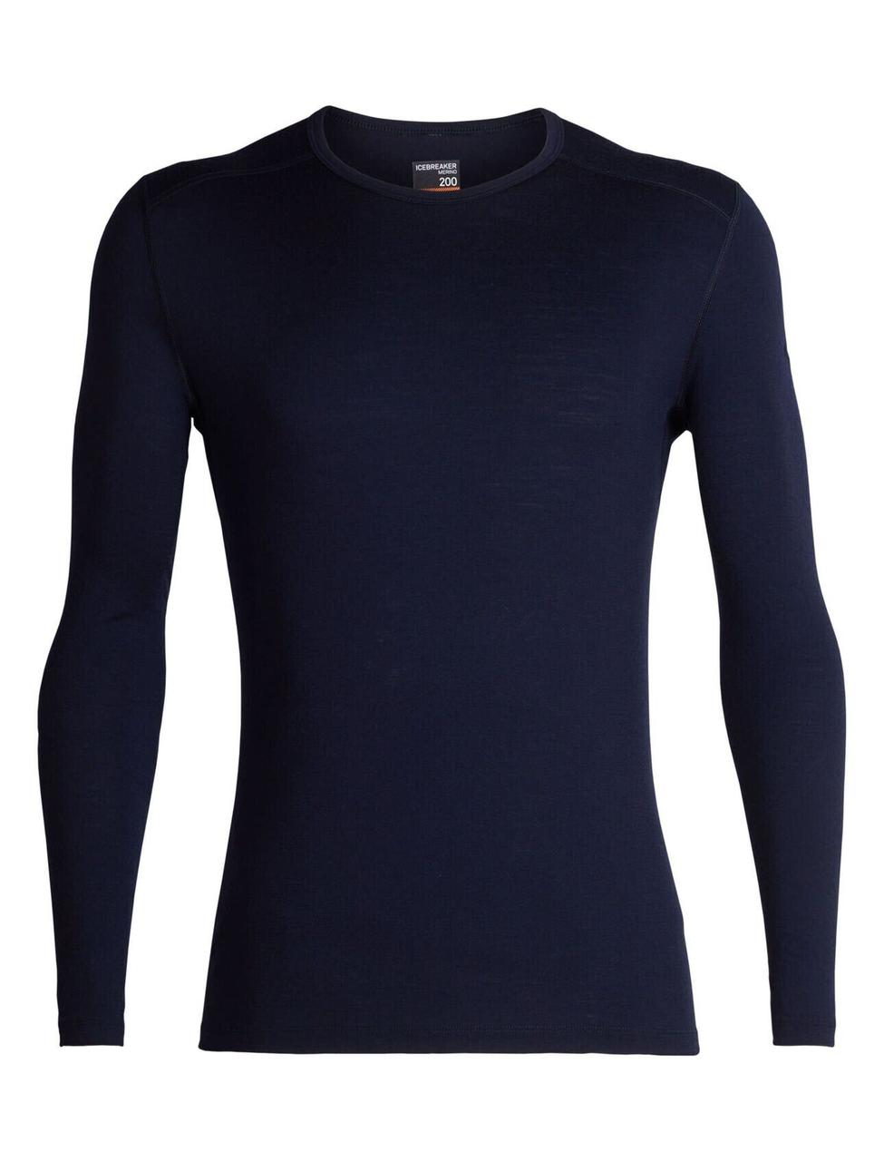 Термофутболка мужская Icebreaker 200 Oasis Long Sleeve Crewe Midnight Navy L (104 365 401 L)