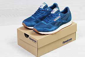 Чоловічі замшеві кросівки Reebok,блакитні 44р, фото 3