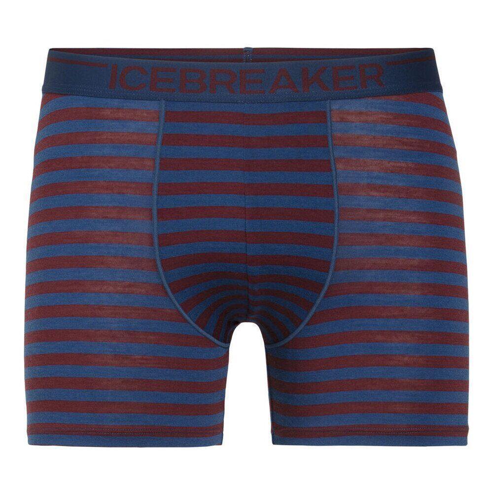 Трусы мужские Icebreaker Mens Anatomica Boxers Estate Blue-Redwood stripe S (103 029 462 S)
