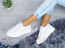 Туфли, мокасины из натуральной кожи белого цвета все размеры