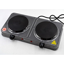 Плита электрическая двухкомфорная Domotec MS-5822 2000W электроплита (код: 44628 )