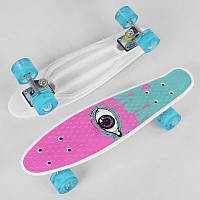 Скейт Пенни борд S 29707 (8) Best Board, 1 ВИД В ЯЩИКЕ, колеса PU светятся, d=4.5 см, доска=55 см