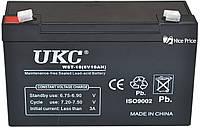Свинцово-кислотный аккумулятор батарея UKC WST-10 6V 10A (2709)