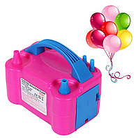 Компрессор насос для воздушных шариков розовый