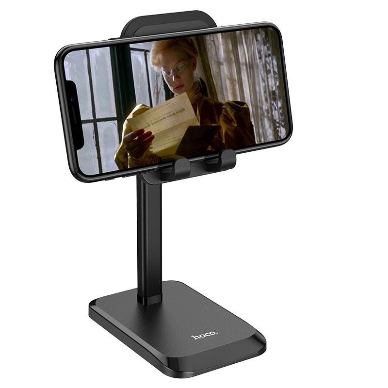 Настольная  подставка для телефона или планшета 4.7-10'' Hoco Stable telescopic desktop stand PH27 Black