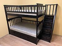 Кровать двухъярусная деревянная трансформер ЩитПлюс120