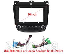Автомобильная панель рамка  для Honda Accord7/Civic/Vez и кабель питания для андроид магнитол