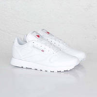 Кроссовки женские Reebok Classic Leather White белые