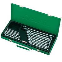 Набор ключей комбинированных 16 шт. 6-24мм (metal box) TOPTUL GAAD1602, фото 1