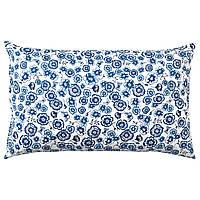 Подушка, квітка / синьо-біла, 65x40 см, sånglärka ikea 004.269.89