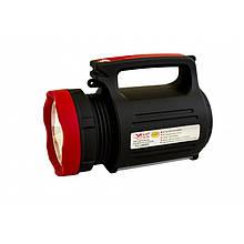 Фонарь ручной светодиодный Yajia YJ-1902T с солнечной панелью и USB Power Bank (код: 46283 )