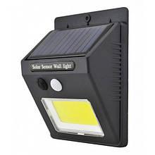 Настенный уличный Светильник UKC SH-1605 с датчиком движения и солнечной панелью (код: 46328 )