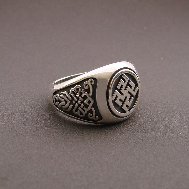 """Перстень """"Одолень трава"""", 18,5 розмір"""
