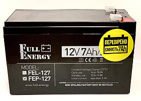 Акумулятор для ДБЖ Full Energy FEP-127 12 В / 7,2 Ah Повна ємність