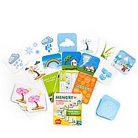 ВРЕМЕНА ГОДА И ПОГОДА - Развивающая настольная игра для детей от 1 года