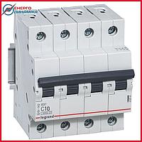 Автоматический выключатель Legrand RX3 10А 4п C 4.5кА