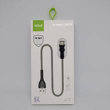 Шнур для зарядки Type-C USB GOLF GC-74 кабель Чёрный (код: 47352 )
