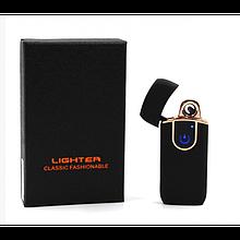 Спіральна сенсорна електрична USB запальничка Lighter ZGP 20 Чорний (код: 47412 )