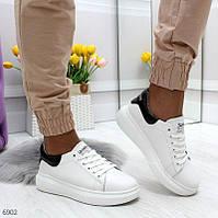 """Жіночі шкіряні кросовки - кріпери Білі """"Karma"""""""