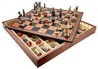 "Подарочный набор Italfama ""Maria Stuarda"" (шахматы, шашки, нарды)"