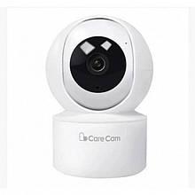 Беспроводная поворотная IP камера видеонаблюдения WiFi microSD Care Cam 23ST Белая (код: 47553 )