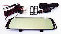 DVR D038 Full HD Зеркало с видео регистратором с камерой заднего вида. 6,8 Сенсорный экран