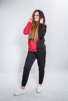 Костюм спортивный женский модный теплый с начесом. Оригинальная вышивка. 90% хлопка