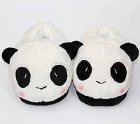 Плюшевые тапочки для кигуруми игрушки панда/ тапки кигуруми для дома пандочки