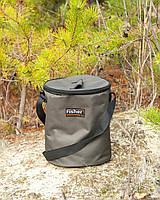 Сумка для жерлиц, Круглая сумка для жерлиц, Сумка Fisher круглая, фото 1