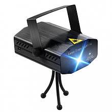 Лазерный проектор, стробоскоп, диско лазер UKC HJ08 4 в 1 c триногой Чёрный 4053 (код: 46814 )