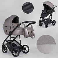 Детская коляска 2 в 1 Expander VIVA V-65365 (1) цвет Camel, водоотталкивающая ткань + эко-кожа