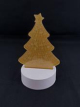 Импортный Настольный светильник с 3D эффектом | Елочка