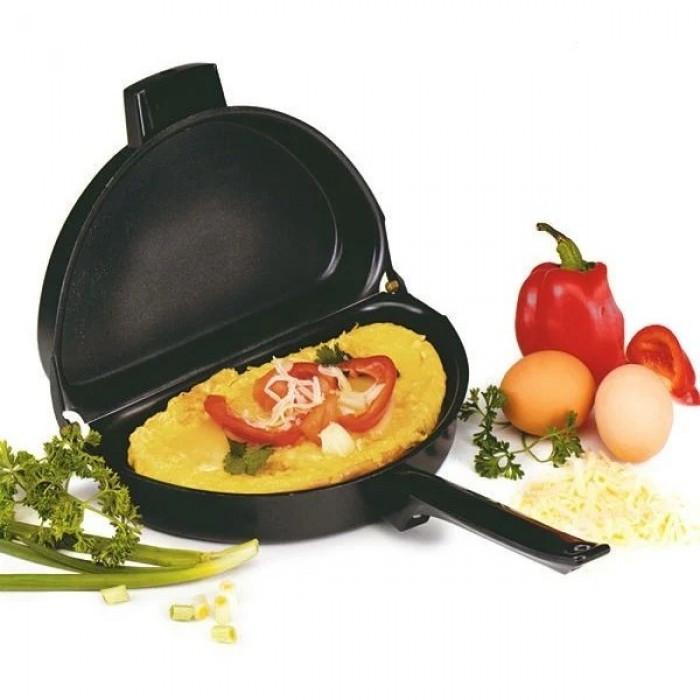 Подвійна сковорода для омлету антипригарна Folding Omelette Pan (код: 47654 )