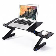 Столик для ноутбука с охлаждением Laptop Table T8 (код: 46462 )