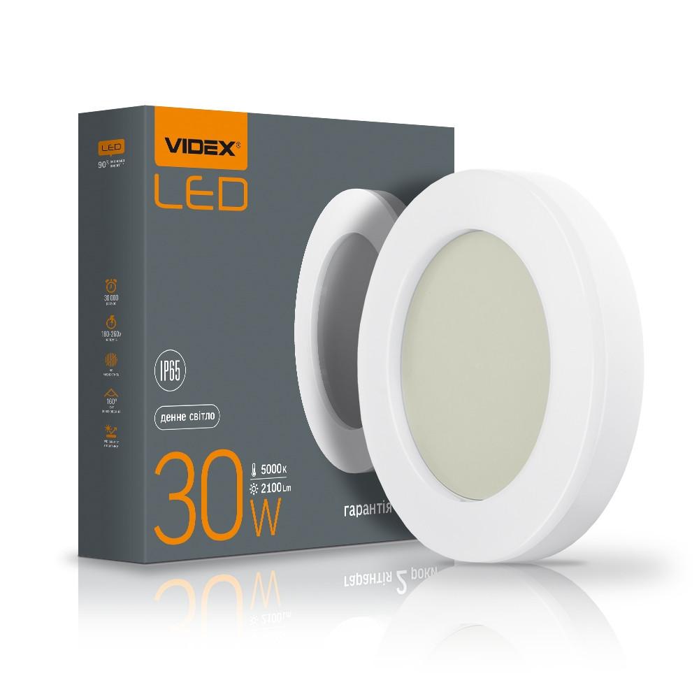 LED світильник ART IP65 круглий VIDEX 30W 5000K