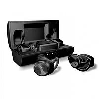 Беспроводные вакумные наушники NIA NB710 Bluetooth 5.0 гарнитура кейс 400mAh Сенсор Чёрные