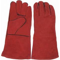 Рукавиці краги зварника 35см червоні Werk