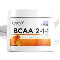 Амінокислоты BCAA 2-1-1 Ostrovit  200г апельсин