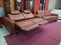 Новый кожаный комплект мягкая мебель диван реклайнер шкіряний диван