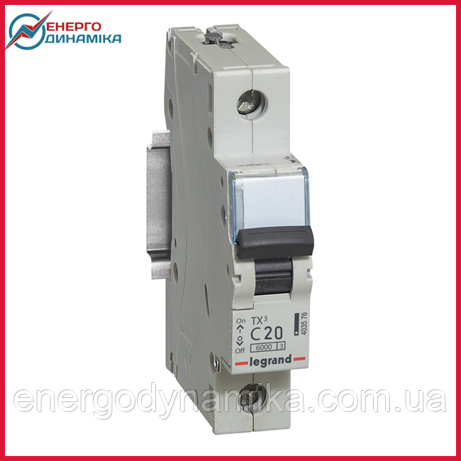 Автоматический выключатель Legrand TX3 20А 1п С 6кА