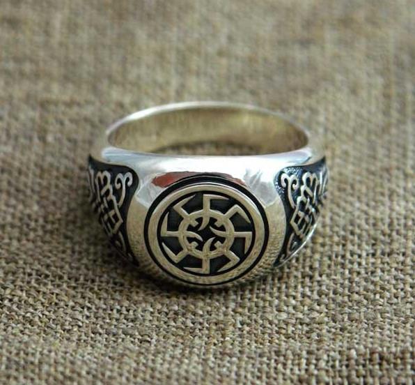 Серебряный перстень Коловрат Русича , 18 размер