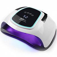LED UV лед уф лампа SUN BQ-6T 108W с ручкой для наращивания ногтей, гель лак Белая