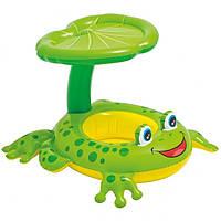Надувной плотик лягушонок Intex 56584 Froggy Friend Shaded Baby Float