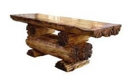 Стол садовый из массива дерева