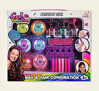 ХИТ!мелки для волос J-2007,лак для ногтей,резинки,маникюрный набор,цветной мел для волос