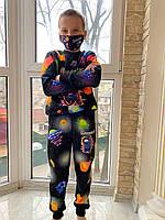 Детский светящийся костюм унисекс Амонг Ас Планеты +маска в подарок, фото 1
