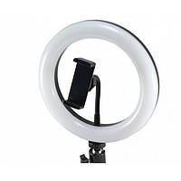 Кольцевая LED лампа YQ 320B 30 см 30 W с держателем для телефона селфи кольцо для блогера