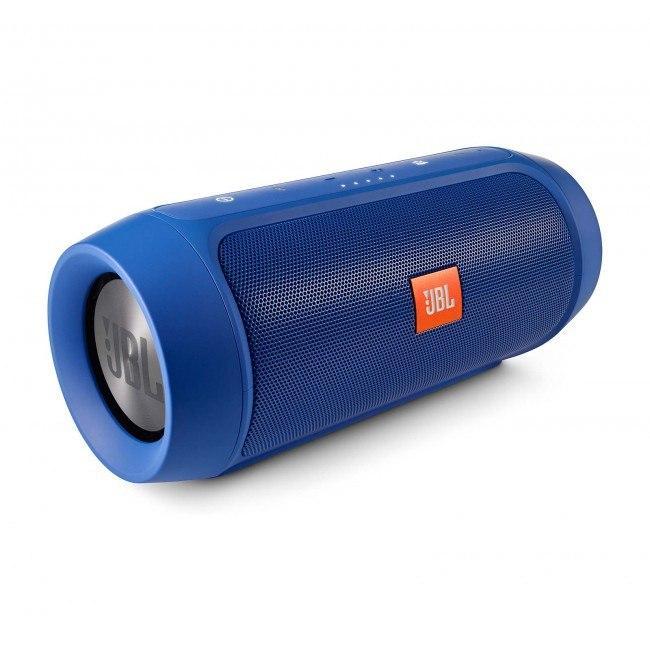 Беспроводная портативная Bluetooth колонка JBL Charge 2+ с защитой от влаги и пыли blue